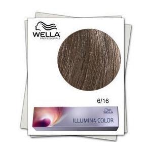 Permanens hajfesték - Wella Professionals Illumina Color árnyalat 6/16 Hamvas ibolya Sötétszőke kép