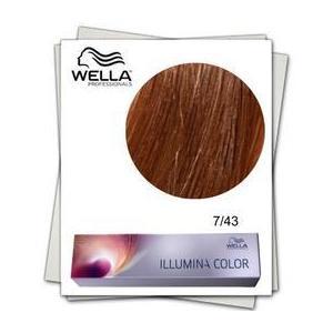 Permanens hajfesték - Wella Professionals Illumina Color árnyalat 7/43 Középszőke aranyló réz kép