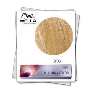 Permanens hajfesték - Wella Professionals Illumina Color árnyalat 9/03 Aranyló természetes Világos szőke kép