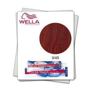 Ammóniamentes hajfesték Mixton - Wella Professionals Color Touch Special Mix árnyalat 0/45 Vörös-Mahon kép