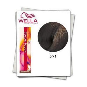Ammóniamentes hajfesték - Wella Professionals Color Touch árnyalat 5/71 Hamvas Barna Világosbarna kép