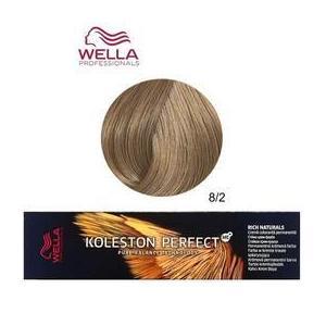 Permanens krém-hajfesték - Wella Professionals Koleston Perfect ME+ Rich Naturals, árnyalat 8/2 Matt Világosszőke kép