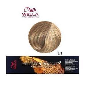 Permanens krém-hajfesték - Wella Professionals Koleston Perfect ME+ Rich Naturals, árnyalat 8/1 Hamvas Világosszőke kép