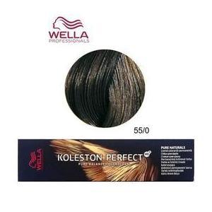 Permanens krém-hajfesték - Wella Professionals Koleston Perfect ME+ Pure Naturals, árnyalat 55/0 Intenzív Világosbarna kép