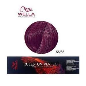 Permanens krém-hajfesték - Wella Professionals Koleston Perfect Vibrant Reds, árnyalat 55/65 Mahagóni Lila Intenzív Világosbarna kép