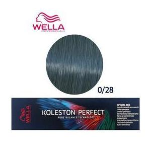 Permanens krém-hajfesték Mixton - Wella Professionals Koleston Perfect Special Mix, árnyalat 0/28 Kékes Matt kép