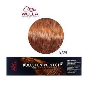 Permanens krém-hajfesték - Wella Professionals Koleston Perfect ME+ Deep Browns, árnyalat 8/74 Vöröses Barna Világosszőke kép
