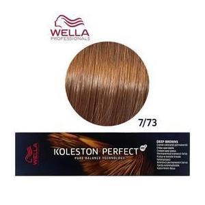 Permanens krém-hajfesték - Wella Professionals Koleston Perfect ME+ Deep Browns, árnyalat 7/73 Aranyló Barna Középszőke kép
