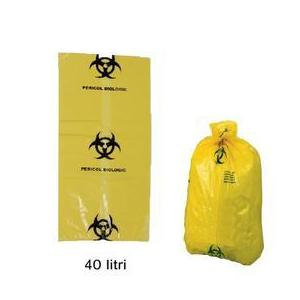 Prima Yellow Bag with Biological Hazard Sign 40 L kép