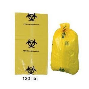 Prima Yellow Bag with Biological Hazard Sign 120 L kép