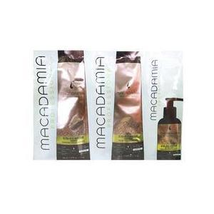 Hidratáló csomag a hajfürtökre - Macadamia Ultra Rich Moisture Trio Foil Pack: Sampon (10ml), Hajbalzsam (10ml), Hajolaj-kezelés (5ml) kép
