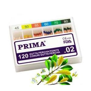 Fogászati papírtölcsérek/kúpok Gutta Percha, Prima, vegyesek 45-80, 120 db. kép