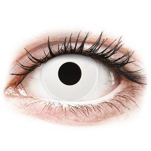 Maxvue Vision ColourVUE Crazy Lens WhiteOut - dioptriával (2 db lencse) kép