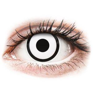 Maxvue Vision ColourVUE Crazy Lens White Zombie - napi lencsék dioptria nélkül (2 db lencse) kép
