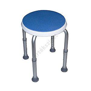 Tusolószék állítható magasságú csúszásmentes felülettel és lábakkal, kerek, kék, Herdegen kép