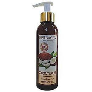 Masszázsolaj Kókusszal és Olívával Herbagen, 150ml kép