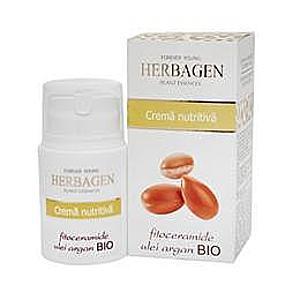 Tápláló Krém Fitoceramidokkal és Bio Argánolajjal Herbagen, 50g kép