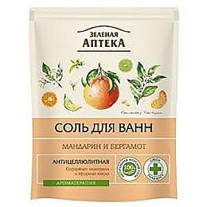 Anticellulistisz Fürdősó Mandarin és Bergamott Olajjal Zelenaya Apteka, 500g kép