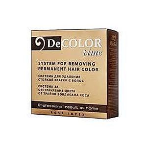 Tartós hajfesték eltávolító rendszer - Color Time - DT100, reduktor 110ml, aktivátor110ml, oxidáló 110ml - Rosa Impex kép