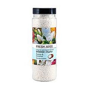 Fürdőgyöngyök Frézia és Kókusz Kivonatokkal Fresh Juice, 450g kép