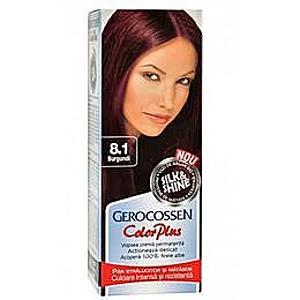 Hajfesték Silk&Shine Gerocossen Color Plus, árnyalata 8.1 Burgundi, 50 g kép