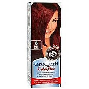 Hajfesték Silk&Shine Gerocossen Color Plus, árnyalata 8 Sötét Mahagóni, 50 g kép