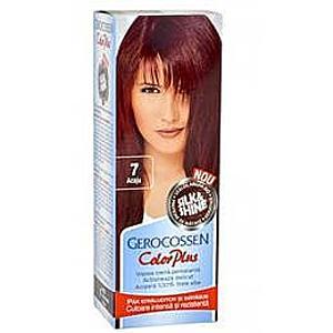 Hajfesték Silk&Shine Gerocossen Color Plus, árnyalata 7 Mahagóni, 50 g kép