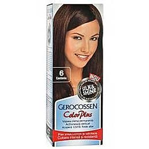 Hajfesték Silk&Shine Gerocossen Color Plus, árnyalat 6 Gesztenye, 50 g kép