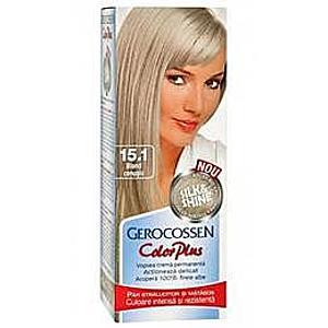 Hajfesték Silk&Shine Gerocossen Color Plus, árnyalata 15.1 Hamu Szőke, 50 g kép