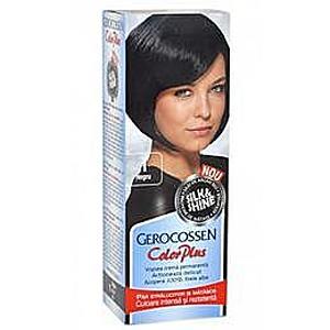 Hajfesték Silk&Shine Gerocossen Color Plus, árnyalata 1 Fekete, 50 g kép