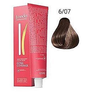 Demi-permanens hajfetsék - Londa Professional Demi-Permanent Color Creme Extra Coverage, árnyalat 6/07 Természetes Sötét Szőke, 60 ml kép