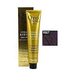 Ammóniamentes Permanens Hajfesték Fanola Oro Therapy Color Keratin Violet - Corector Violet, 100ml kép