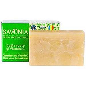 Természetes Szappan Uborkával és C-vitaminnal Savonia, 90g kép