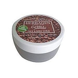 Bőrradír Kávéval Arcra és Testre Herbagen, 100g kép