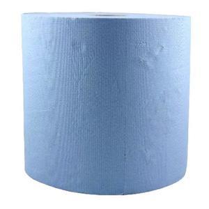Ipari Papír Tekercs, Kék színű - Prima Blue Towel Tissue Paper Roll 26 cm x 296 m kép