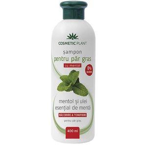 Sampon Zsíros Hajra Mentollal és Menta Illóolajjal Cosmetic Plant, 400 ml kép