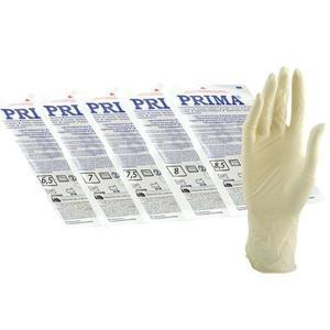 Sebészeti Latex Kesztyűk, sterilek, enyhén púderesek, Méret L - Prima Sterile Latex Surgical Light Powered Gloves 8, 2 db. kép
