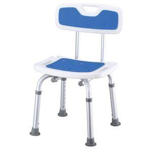 Tusolószék háttámlával, állítható magasságú csúszásmentes felülettel és lábakkal, kék, Prim kép