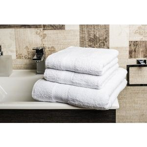 Törölköző + fürdőlepedő - fehér - Méretet 2x50x70cm a 70x140cm kép