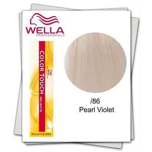 Féltartós hajfesték, ammóniamentes - Wella Professionals Color Touch Relights Blonde árnyalat /86 kép