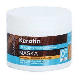 Dr. Santé Keratin mélyenreható helyreállító és tápláló maszk töredezett fénytelen hajra 300 ml kép