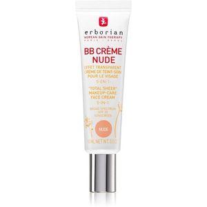 Erborian BB Cream tonizáló krém a bőr tökéletes külalakjáért SPF 20 kis csomagolás árnyalat Nude 15 ml kép