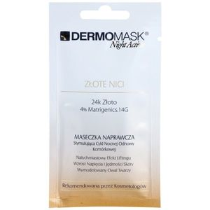 L'biotica DermoMask Night Active kisimító és feszesítő maszk 24 karátos arannyal 12 ml kép