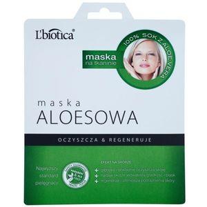 L'biotica Masks Aloe Vera arcmaszk regeneráló hatással 23 ml kép