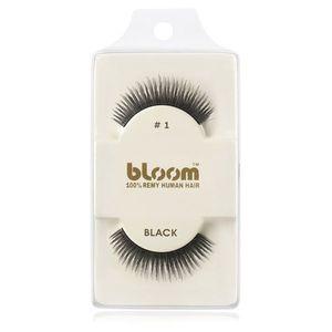 Bloom Natural ragasztható műszempilla természetes hajból No. 1 (Black) 1 cm kép