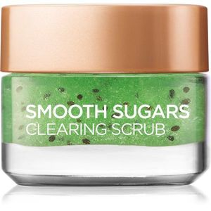 L'Oréal Paris Smooth Sugars Scrub finomszemcsés, tisztító cukor peeling mitesszerek ellen 50 ml kép