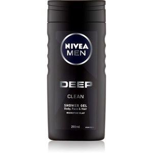 Nivea Men Deep tusfürdő gél arcra, testre és hajra 250 ml kép