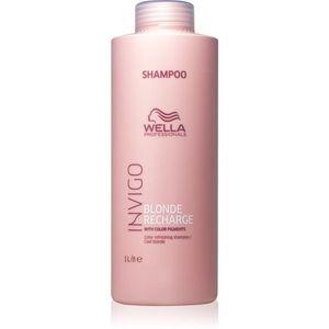Wella Professionals Invigo Blonde Recharge sampon a festett szőke haj védelmére Cool Blond 1000 ml kép