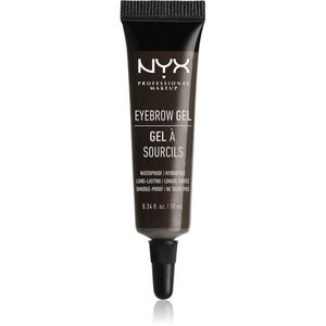NYX Professional Makeup Eyebrow Gel Szemöldökformázó zselé árnyalat 05 Black 10 ml kép