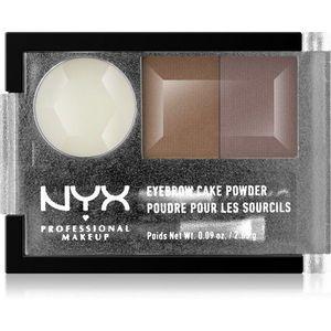 NYX Professional Makeup Eyebrow Cake Powder Szemöldökformázó készlet árnyalat 03 Taupe/Ash 2.65 g kép
